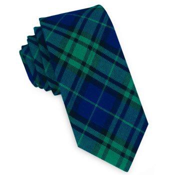 Black Watch Tartan Plaid Skinny Tie