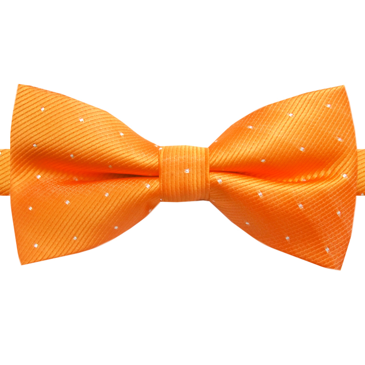 Orange with Small Dots Bow Tie