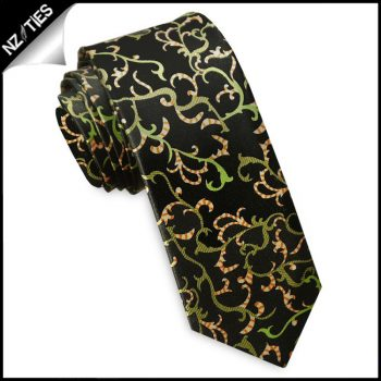 Black With Christmas Colours Skinny Tie