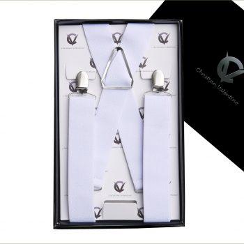 White X3.5cm Men's Braces Suspenders