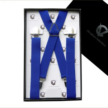 Royal Blue X2.5cm Men's Extra Large Braces Suspenders