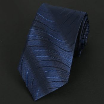 Dark Blue With Swirls Silk Tie