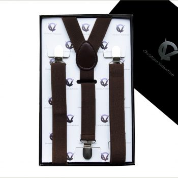 Boy's Dark Brown Y2.5cm Braces Suspenders