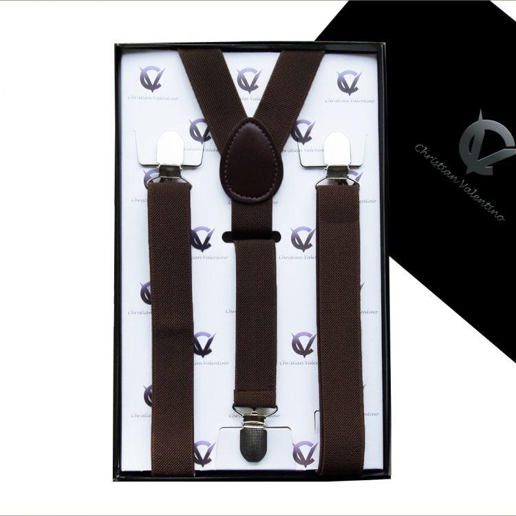 Boy's Dark Brown Y2.5cm Braces Suspenders
