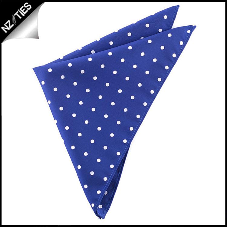 Navy Blue Polka Dot Pocket Square Handkerchief