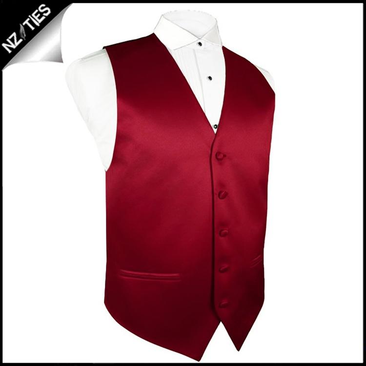 """Mens Scarlet Red Waistcoat Vest 60"""" / 152cm XXXXL"""