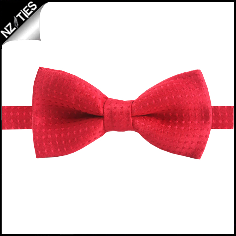 Boys Red with Red Polka Dots Bow Tie