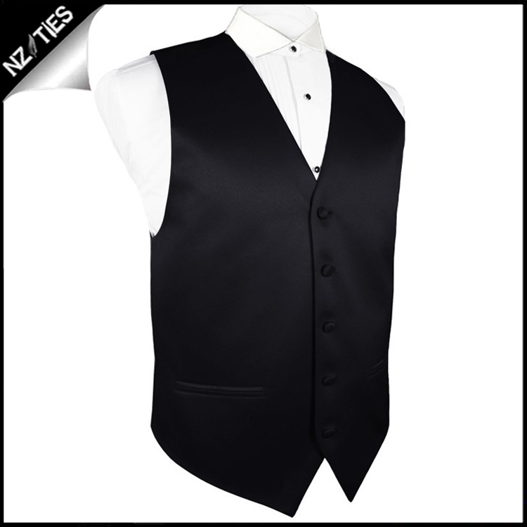 "Boy's Black Waistcoat Vest 28"" / 72cm 3XS"