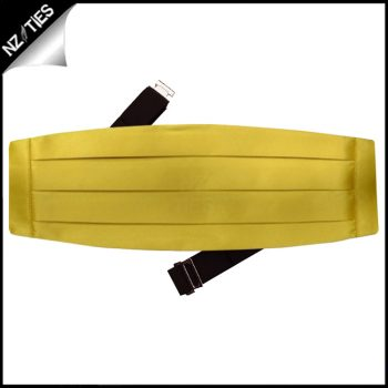 Mens Metallic Gold Cummerbund