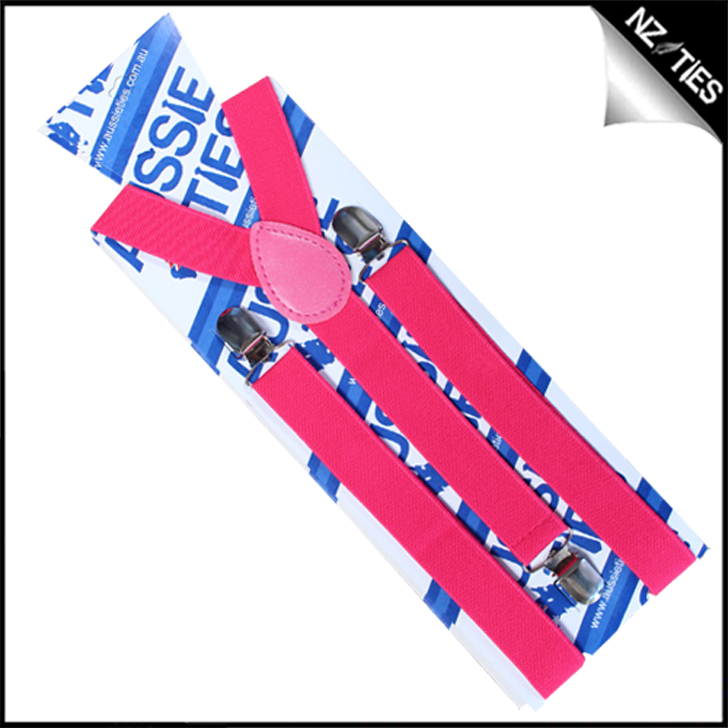 Hot Pink Braces Suspenders