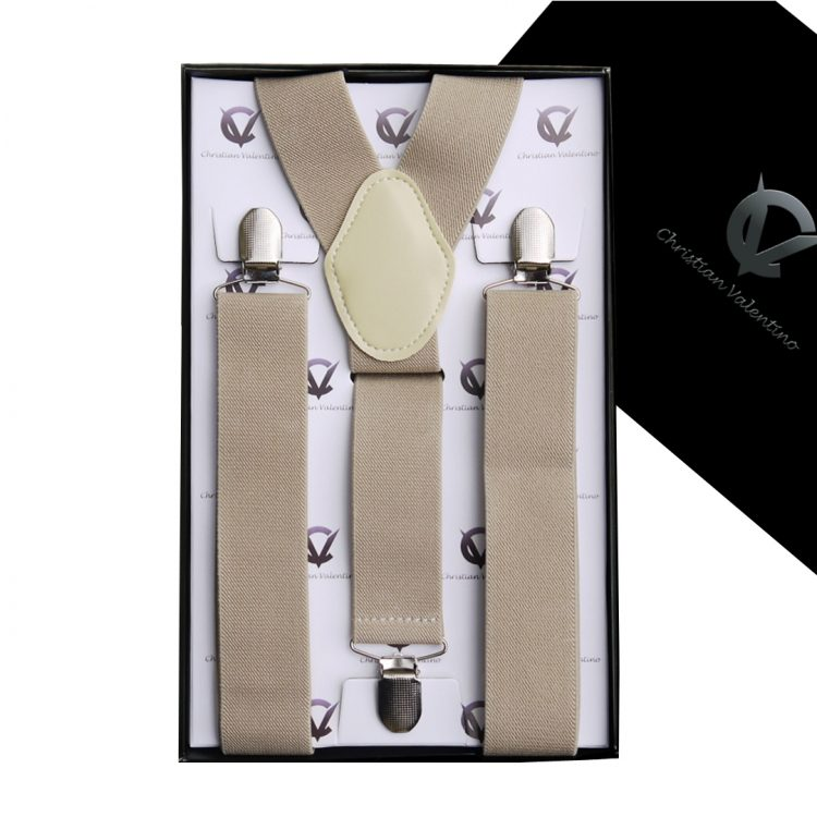 Mocha Y3.5cm Men's Braces Suspenders