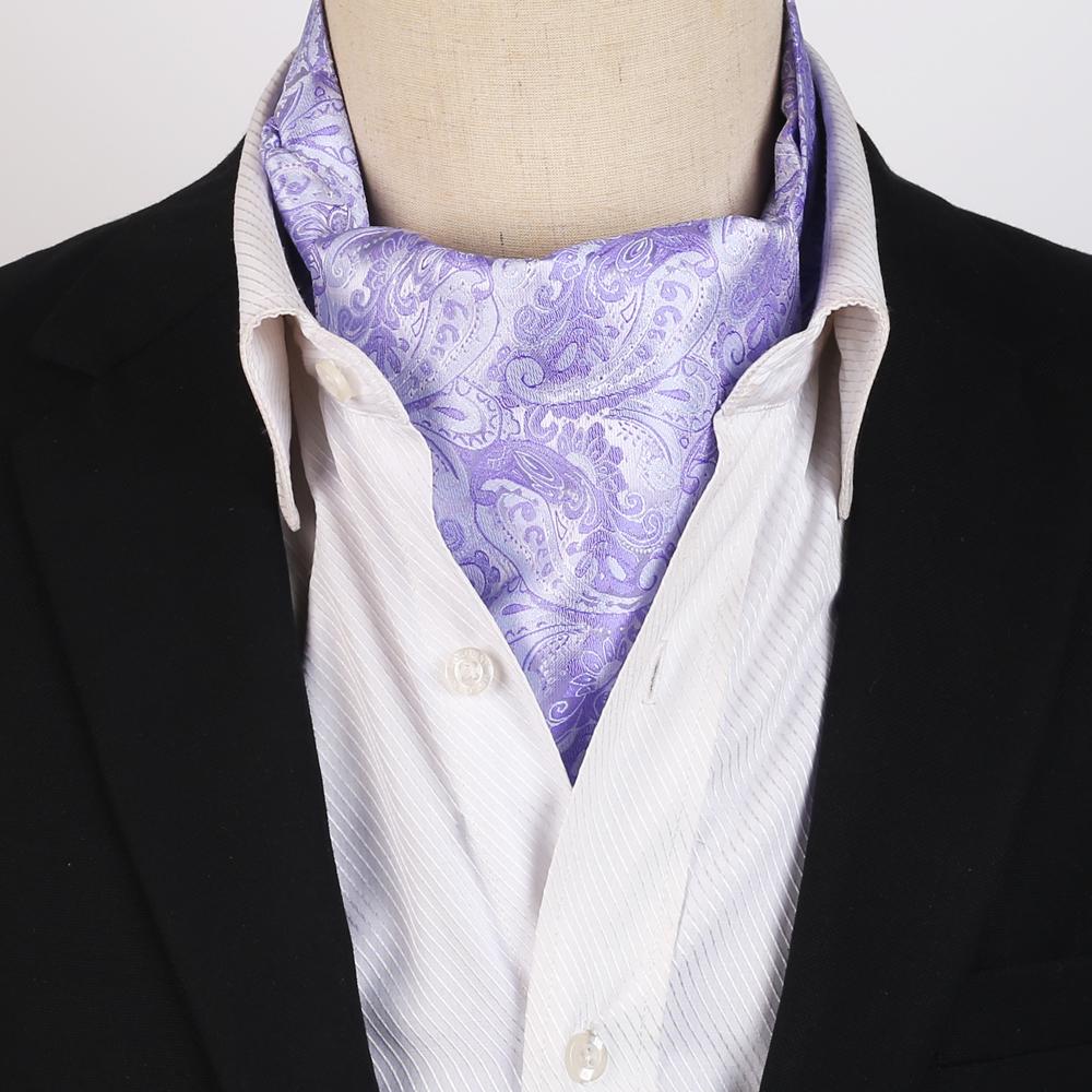 Lavender Purple Paisley Ascot Cravat