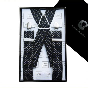 Black With Blue & White Starry Pattern 3.5X XL Braces