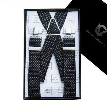 Black With Blue & White Starry Pattern 3.5X XL Braces