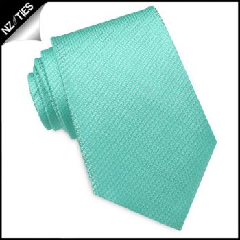 Mint Green Woven Texture Mens Tie
