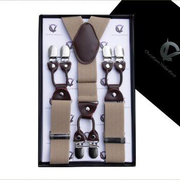 Beige Tan Leather Attachment XL Braces