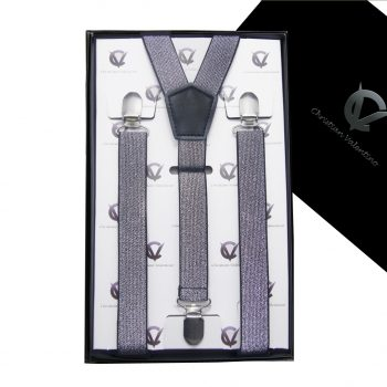 Silver Specks Men's Braces Suspenders