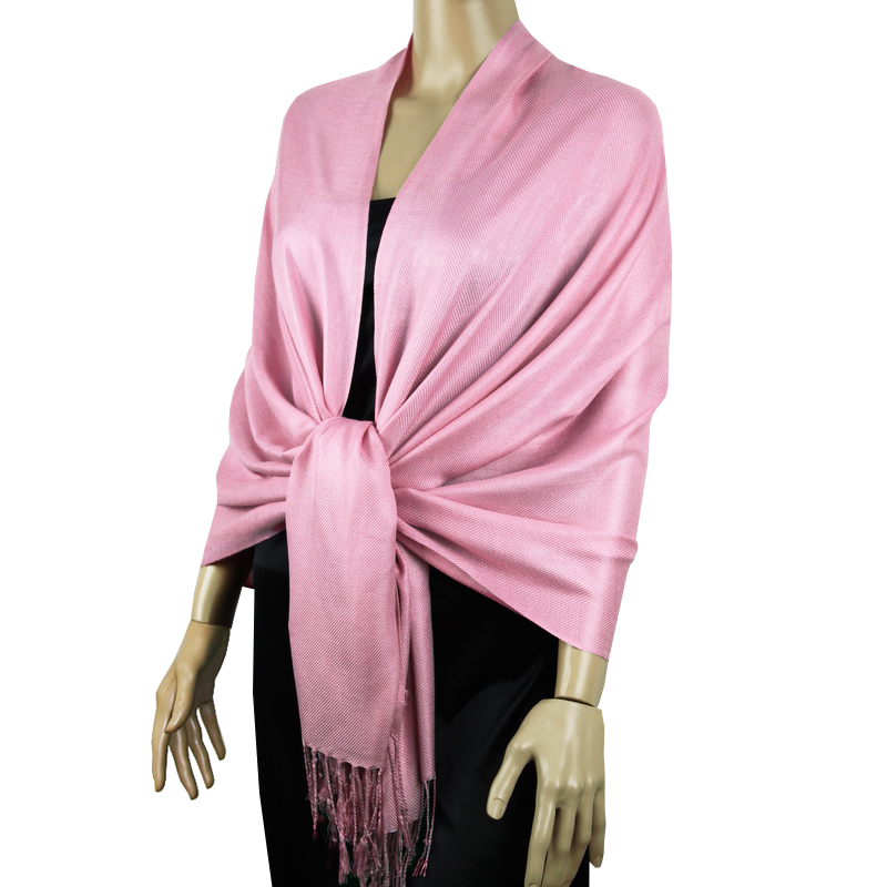 Candy Pink Ladies High Quality Pashmina Scarf