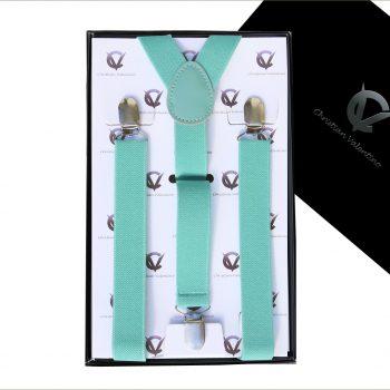Mint Green Y2.5cm Men's Braces Suspenders