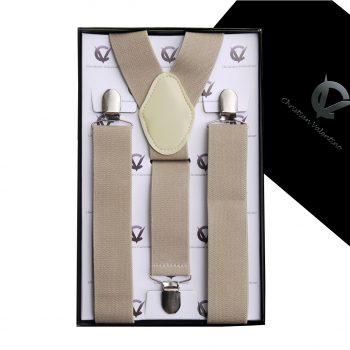 Mocha Y3.5cm Men's Extra Large Braces Suspenders