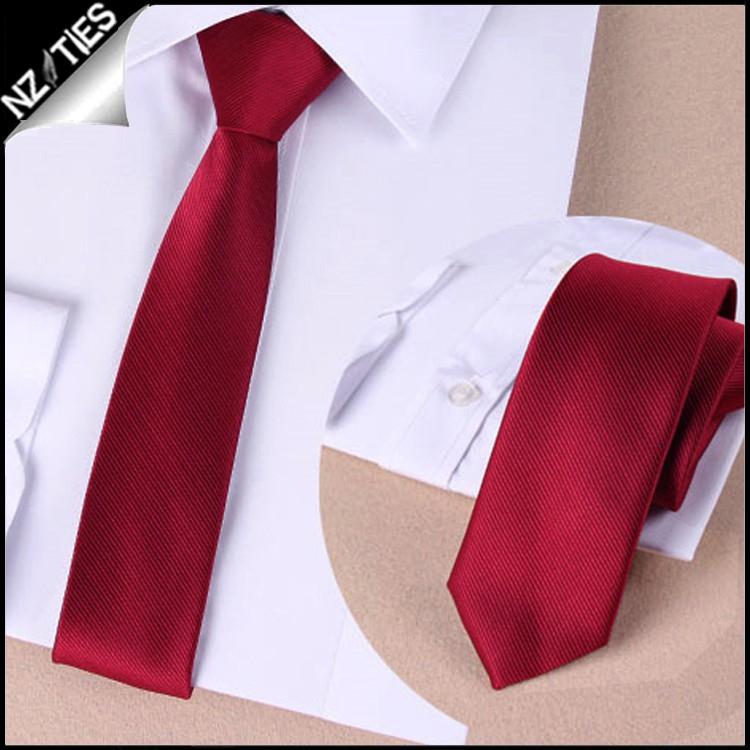 Mens Scarlet Red Zipper Necktie 2