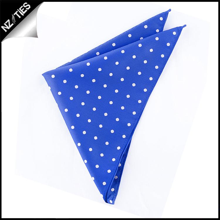 Royal Blue Polka Dot Pocket Square Handkerchief