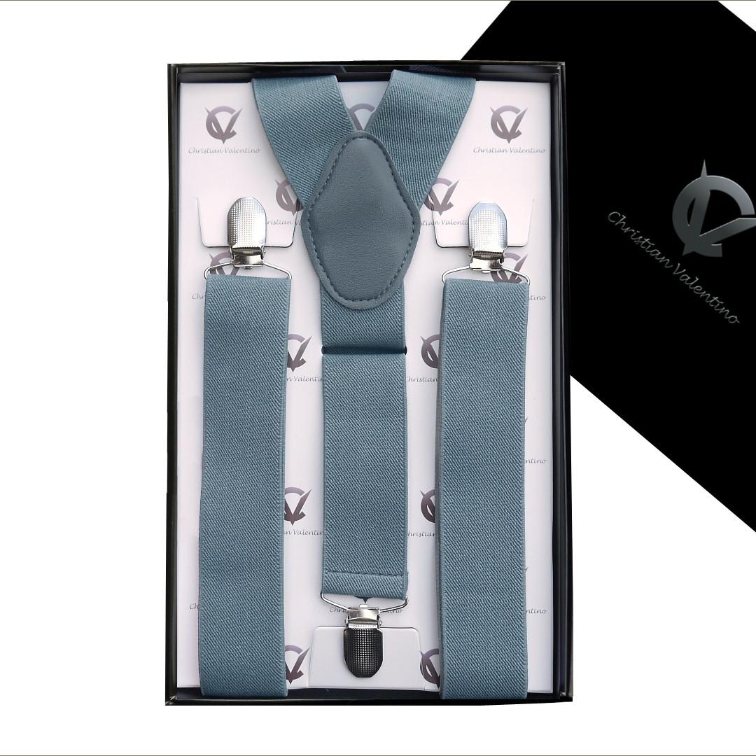 Mid Grey Y3.5cm Men's Braces Suspenders