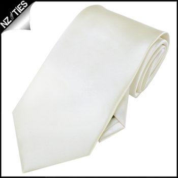 Boys Ivory Champagne Plain Necktie