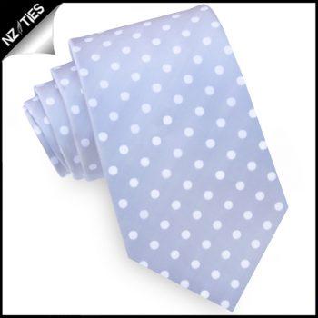 Grey Polka Dot Mens Tie