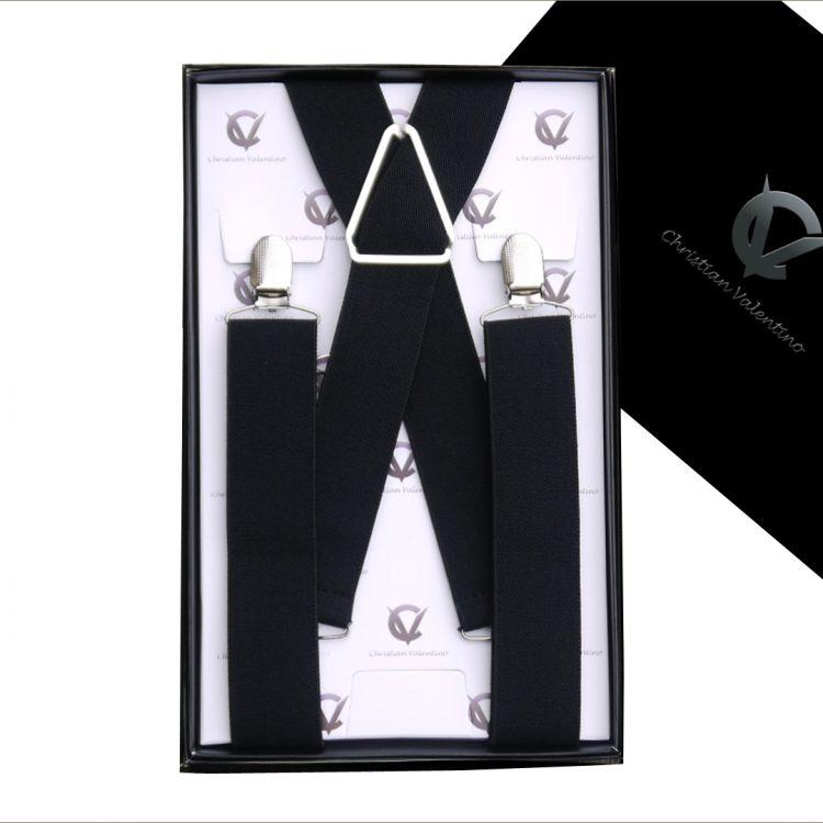Black X3.5cm Men's Braces Suspenders