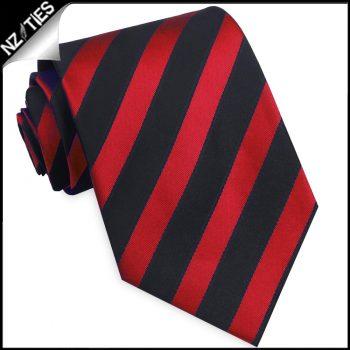 Red And Black Stripes Mens Necktie