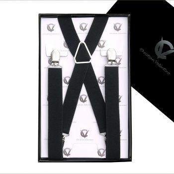 Black X2.5cm Men's Braces Suspenders