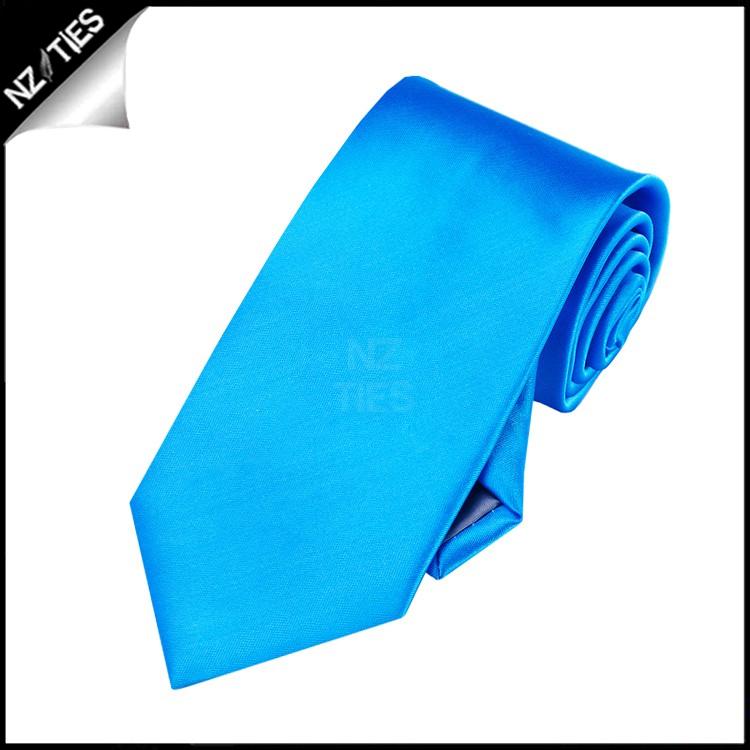 Boys Cobalt Blue Plain Necktie