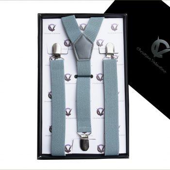 Mid Grey Y2.5cm Men's Braces Suspenders