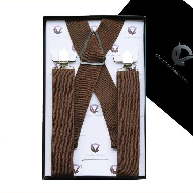 Mid Brown X3.5cm Men's Extra Large Braces Suspenders