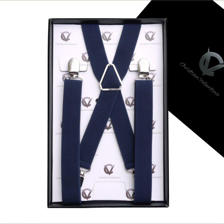 Midnight Blue X2.5cm Boy's Braces Suspenders