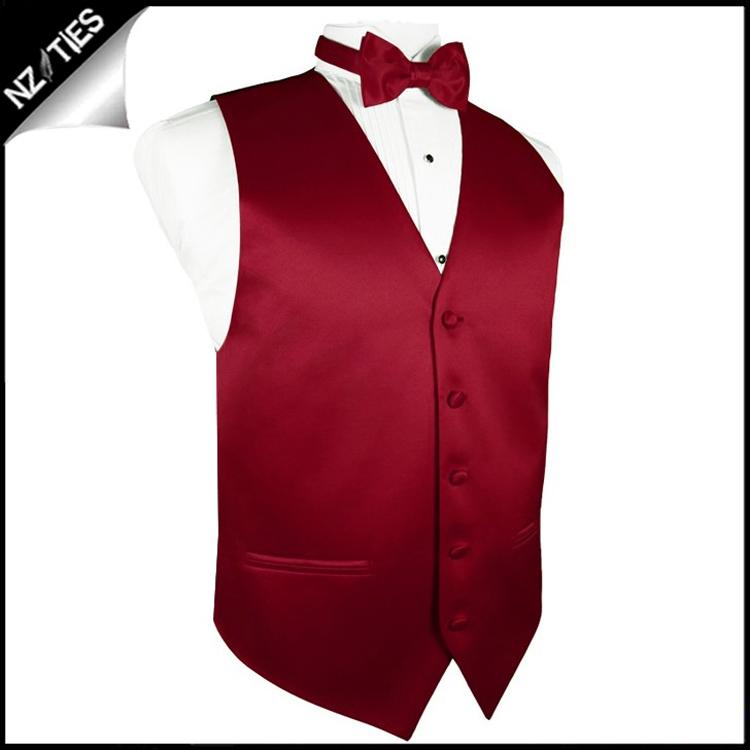 """Mens Scarlet Red Waistcoat Vest 60"""" / 152cm XXXXL 2"""