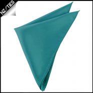 Mens Teal Green Pocket Square Handkerchief
