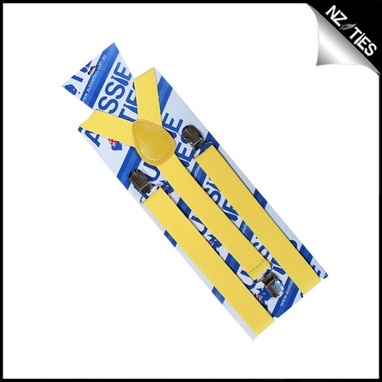 Yellow Boys Braces Suspenders