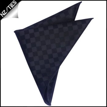 Black With Black Diamonds Pocket Square
