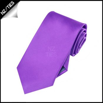 Boys Violet Purple Plain Necktie