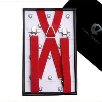 Red X2.5cm Men's Extra Large Braces