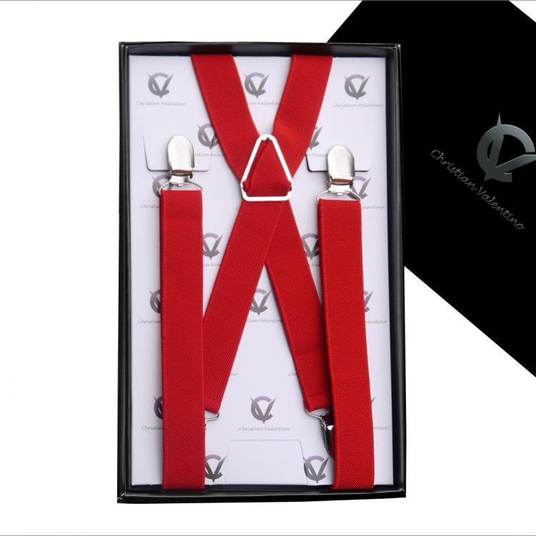 Red X2.5cm Men's Extra Large Braces