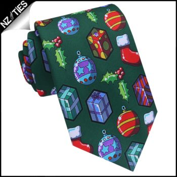 Green Christmas Decorations Tie