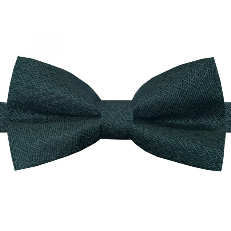 Dark Green Bar Texture Bow Tie
