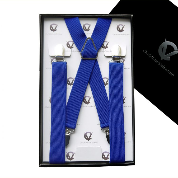 Royal Blue X2.5cm Boy's Braces Suspenders