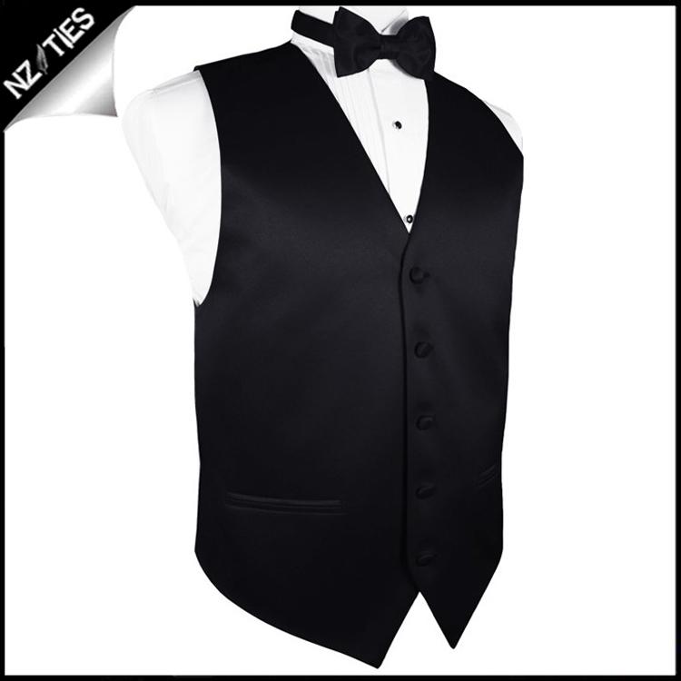 "Boy's Black Waistcoat Vest 26"" / 67cm 4XS 2"