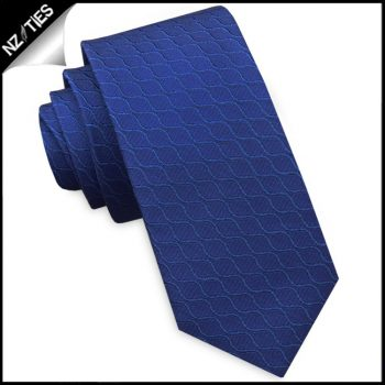 Royal Blue Reptile Skin Men's Slim Tie