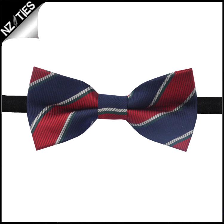 Boys Red, Blue & White Stripes Bow Tie