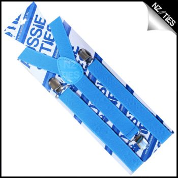 Cobalt Mid Blue Braces Suspenders